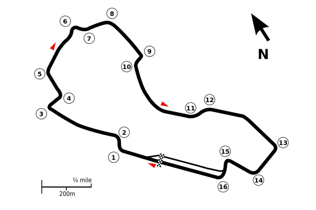 Albert Park Street Circuit layout