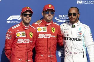 Leclerc pakt wederom poleposition, Hamilton knap tweede voor Vettel