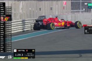 Ophanging Vettel licht beschadigd na crash VT1, geen gevolgen voor rest van weekend