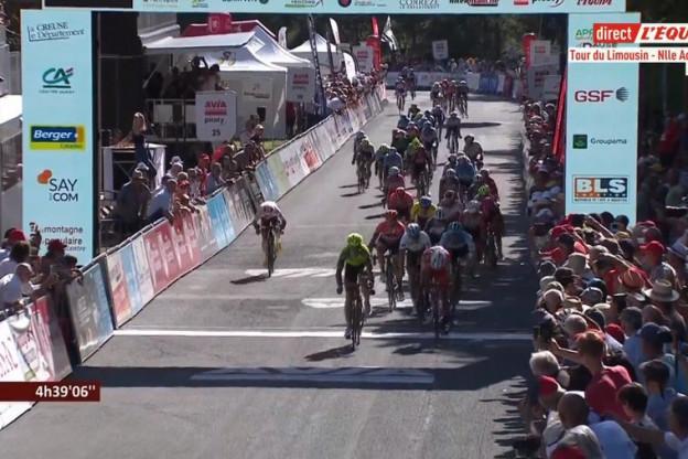 Aristi sprint naar zege in etappe twee Tour du Limousin, Calmejane blijft in geel