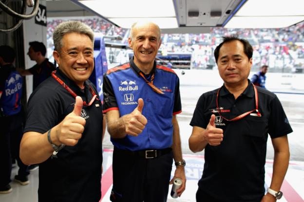 Tost blij na derde plek Kvyat: 'Vooral te danken aan fantastische kracht van Honda'