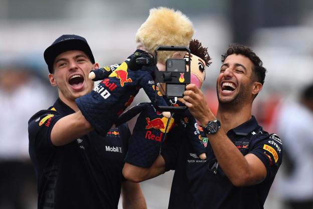 Ricciardo: 'Wat als Verstappen wereldkampioen wordt? Ik heb er vrede mee'