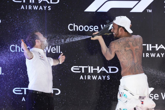 Hamilton: 'Had er geen problemen mee dat ik nooit races won na wereldtitel'