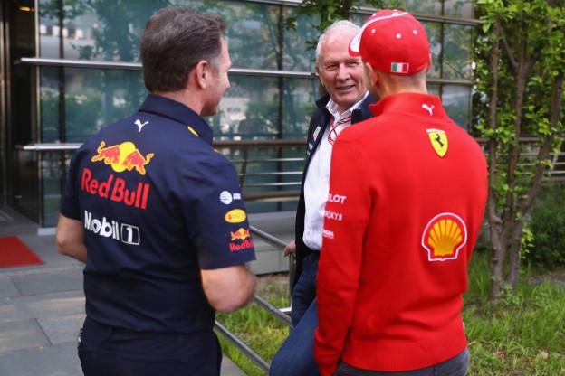 Telegraaf: 'Marko baalde van gesprek Jos Verstappen voor motorhome Ferrari'