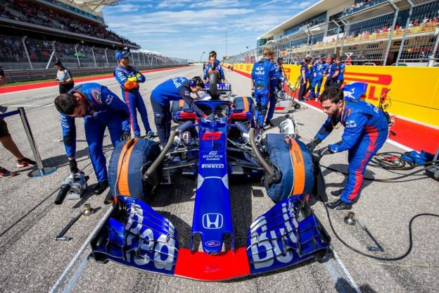 Amerikaanse gridstraffen Toro Rosso gevolg van Honda Spec-3B