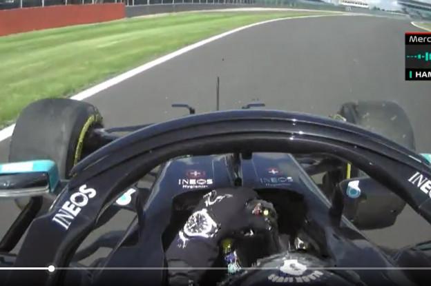 Doornbos oneens met engineer Hamilton: 'Dat is een flat spot!'