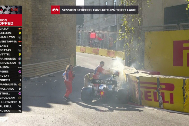 Video | Kubica plant auto in de muur in Q1 van kwalificatie GP Azerbeidzjan