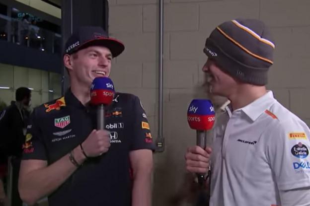 Video | Bekijk de roast van Norris door Verstappen bij Skysports