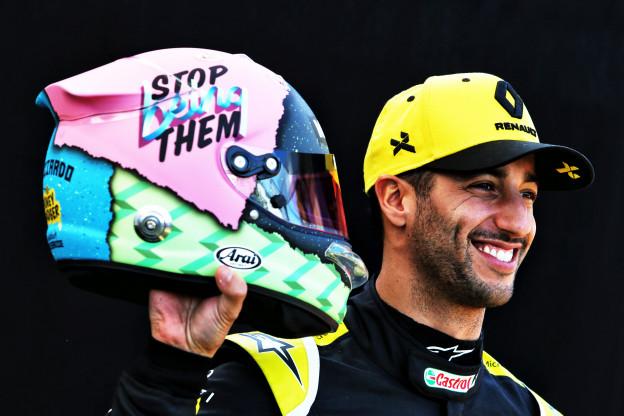 Nieuwe slogan Ricciardo niet gericht op Red Bull: 'Motivatie om jezelf te zijn'
