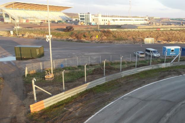 Verbouwingsupdate Zandvoort | Exit pitlane achter de Tarzanbocht