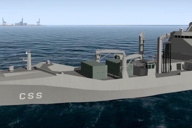 Admiraal Kramer onthult naam van nieuwe Combat Support Ship
